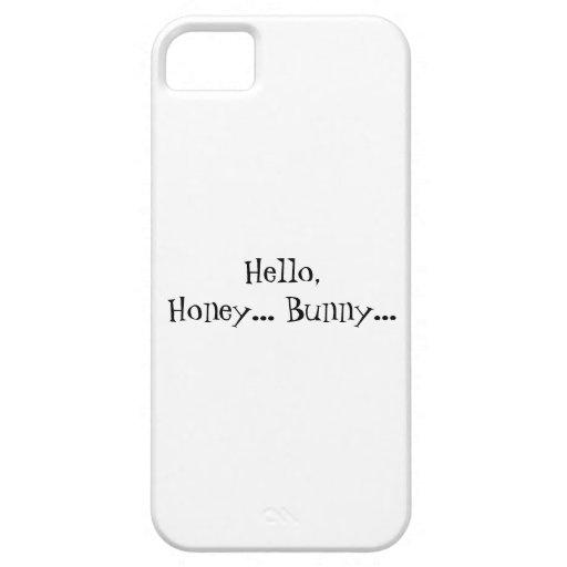 Hola conejito de la miel iPhone 5 Case-Mate cárcasas