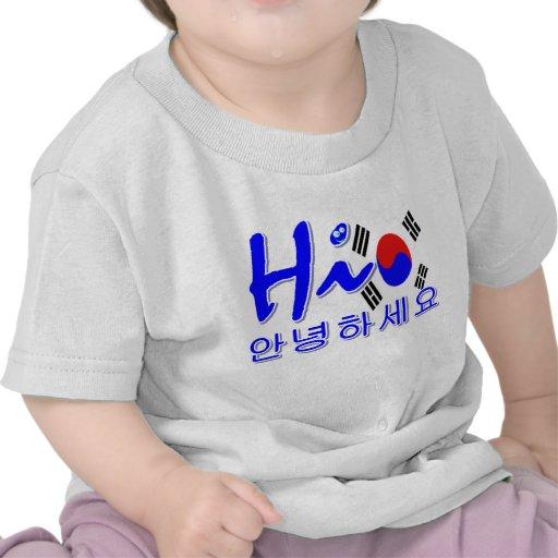 Hola Corea del Sur Camisetas