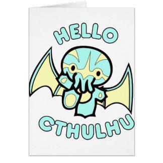 Hola Cthulhu Felicitación