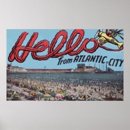 Hola de Atlantic City, vintage Impresiones