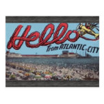Hola de Atlantic City, vintage Tarjetas Postales
