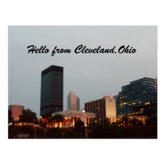 HOLA DE CLEVELAND postal de OHIO