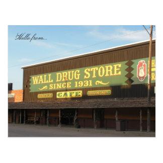 Hola de… Droga de la pared Postal