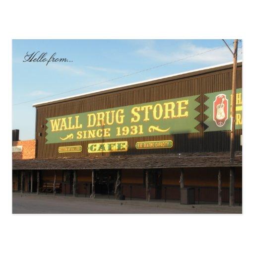 Hola de… Droga de la pared Tarjetas Postales