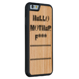 hola *** de la madre f funda de iPhone 6 bumper cerezo