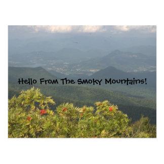 Hola de la postal ahumada de Mts