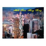 Hola de la postal de Hong Kong