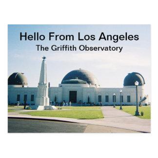 Hola de la postal de Los Ángeles