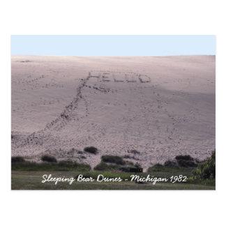 Hola de las dunas Michigan del oso el dormir Postales