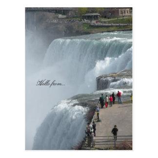 Hola de… Niagara Falls Canadá ny Tarjeta Postal