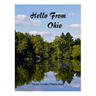 Hola de Ohio, tres C… Tarjeta Postal