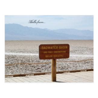 Hola de… Parque nacional de Death Valley Tarjetas Postales