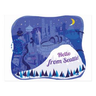 Hola de Seattle Tarjetas Postales