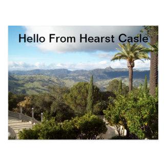 Hola del castillo de Hearst Postal