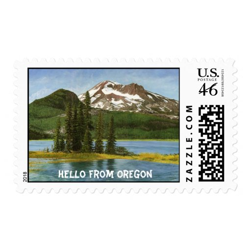 Hola del franqueo de Oregon y de la tarjeta de fel