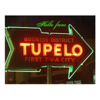 ¡Hola del Tupelo! Postales