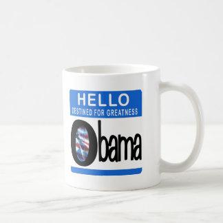Hola destinado para la grandeza tazas de café