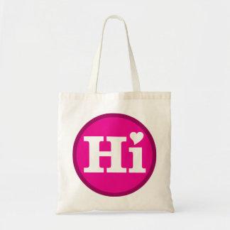 Hola diseño de la isla del amor de Hawaii Bolsa Tela Barata