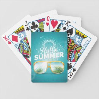 Hola diseño del verano cartas de juego