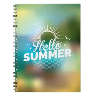 Hola diseño del verano libretas espirales