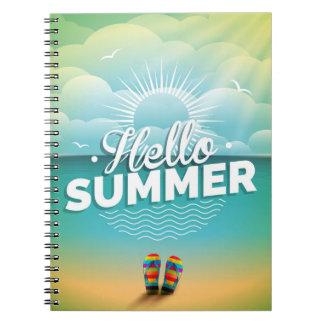 Hola diseño del verano notebook