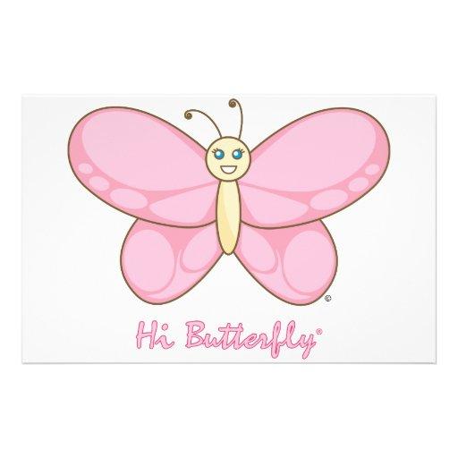 Hola efectos de escritorio de Butterfly® Papelería Personalizada