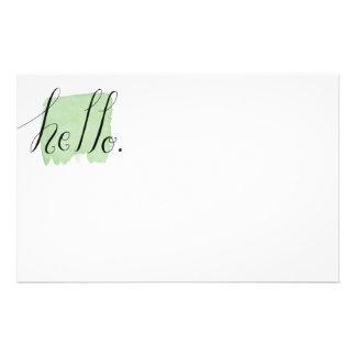 hola efectos de escritorio indicados con letras de papeleria