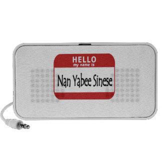 Hola el nombre es NaN Yabee Sinese Mp3 Altavoces