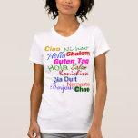 Hola en camiseta de muchas idiomas playera