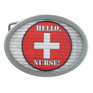 ¡Hola, enfermera! Hebilla del cinturón Hebilla De Cinturon Oval