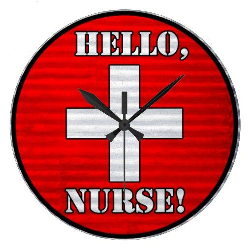 ¡Hola, enfermera! Reloj de pared