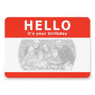"""¡hola, es su cumpleaños! nametag invitación 5"""" x 7"""""""