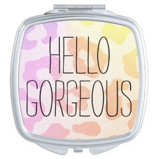 Hola espejo compacto magnífico - personalice