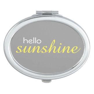 """""""Hola espejo compacto oval de la sol"""""""