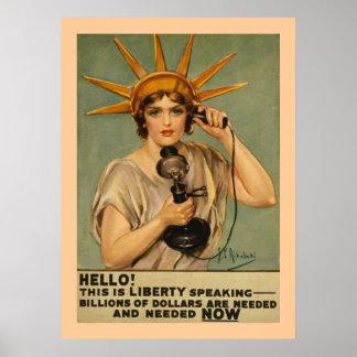 ¡Hola Éste es discurso de la libertad Poster