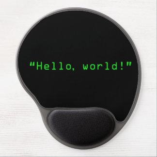 """""""Hola estilo del ordenador del mundo"""" Alfombrillas De Ratón Con Gel"""