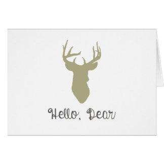 Hola, estimada Card Tarjeta De Felicitación