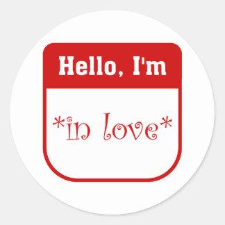 Hola estoy en pegatinas del amor