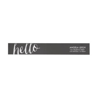 Hola etiqueta envuelta del remite de los efectos etiquetas postales