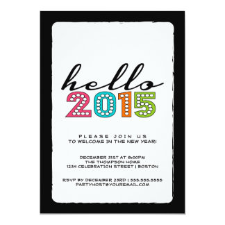 Hola fiesta de Noche Vieja de la Feliz Año Nuevo Invitación 12,7 X 17,8 Cm