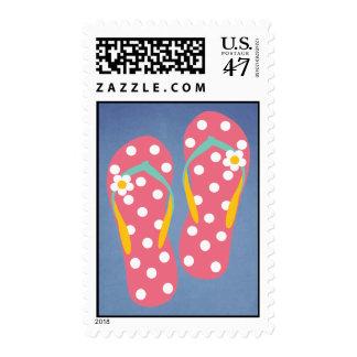 Hola flips-flopes sello postal