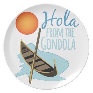 Hola From Gondola Party Plate
