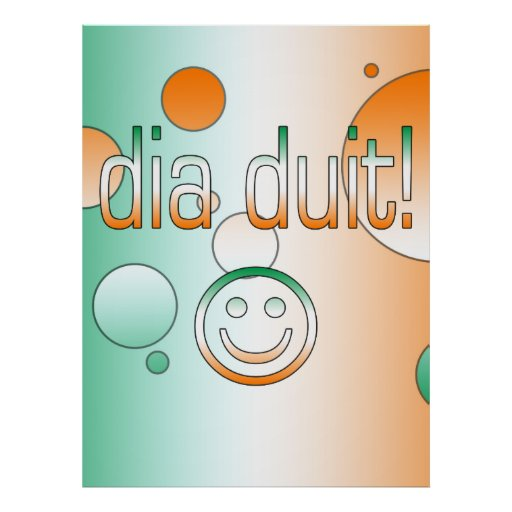Hola gaélico irlandés/diámetro Duit de los regalos Impresiones
