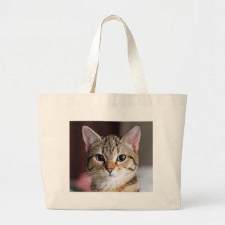 Hola gatito bolsa tela grande