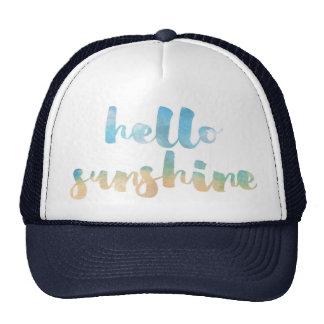 hola gorra de la sol