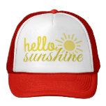 Hola gorra del verano del camionero de las mujeres