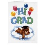 Hola graduado tarjeta