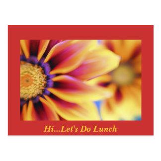 Hola… hagamos el almuerzo tarjetas postales