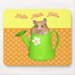 Hola hola hámster alfombrilla de raton