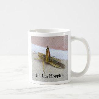 Hola, I, m Hoppity. Taza Básica Blanca